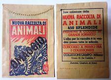 BUSTINA FIGURINE tüte  packet  NUOVA RACC.  ANIMALI SIGILLATE PIENE FULL SEALE