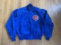 Chicago Cubs Vintage 90's Satin Starter Jacket Blue Size L