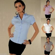 Cotton Button Down Collar Blouses for Women