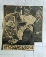 1949 Chief Manga Williams British Cameroons At Chiswick Chief Saneh Falai Bande