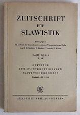 Zeitschrift für Slavistik Band III Heft 2-4 1958 Sprache lernen Slawisch Slawist