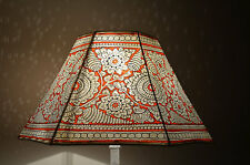 Amber-Red Large Lamp shade, Floor Lamp, Large Lampshade