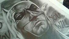 Original 8.5x11 Batman/Ben Affleck pencil drawing done by  artist ARTuro