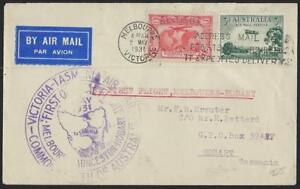 AUSTRALIA 1931 FIRST FLIGHT MELBOURNE TO HOBART TASMANIA