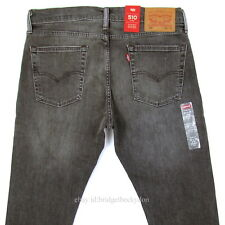 Levis 510 Jeans Skinny Fit Mens New Size 33 x 32 DARK GRAY W/STRETCH Levi's NWT