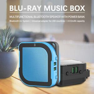 Mini Studio Kabellos Bluetooth Außen Lautsprecher Tragbar Mit 3000 MAH Powerbank