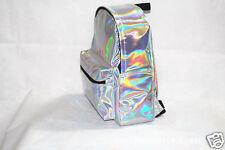 New Women's Girls' Hologram Holographic PVC School Backpack Bag Fashion Bookbag