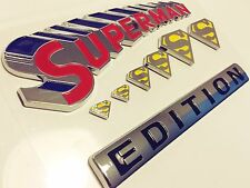 100% SUPERMAN FAMILY EDITION EMBLEM rear symbol CAR TRUCK BOAT LOGO DECAL SIGN