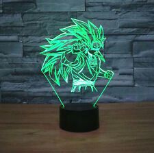 Dragon Ball Z Vegeta 3D LED Night Light Touch Table Desk Lamp 7 Color Changing