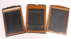 5x7 Wood Film Holders (3) - Ansco/Rochester Optical - Pretty Nice