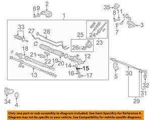 Acura HONDA OEM 05-06 RSX Steering Gear-Rack Spring 53413S6MA01