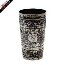 Antique Russian 88 Silver 84 Kovsh Charka Tea Cup Holder Beaker Slavic Niello RU