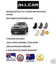 Sheepskin Car Seatcovers for Holden Captiva 5 & 7 , Seat Airbag Safe , 30mm TC