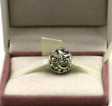 Genuine Sterling Silver & Gold PANDORA Heart of Romance Charm, 792108CZ S925 ALE