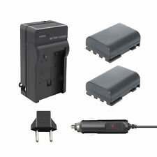 2 Pack NB-2L NB-2LH Battery+charger for Canon NB-2L12 NB-2L14 NB-2L24 PowerShot