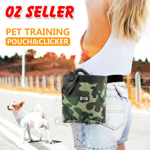 Dog Pet Training Treat Bag Feed Pouch Food Storage Training Whistle & Clicker