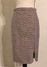 NEW JCREW Zip-front pencil skirt in sparkle tweed Size4 E1246 Metallic Plum