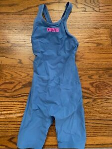 Arena Girls' Powerskin R-EVO ONE Open Back Tech Suit 100% Authentic Size 26