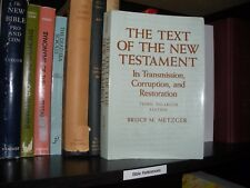 """The Text of the NT"" Bruce Metzger Watchtower Research Jehovah third edition"