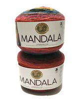 Lion Brand Yarn Mandala Chimera 2pc 5.3 Oz 590 Yards Each