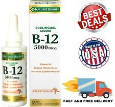 Vitamin B12 5000mcg Natural Energy Boost Methylcobalamin Sublingual Liquid Drops