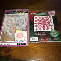 Bucilla Paint Stiching And Cross Stitch Paint Stich Lot Of 2