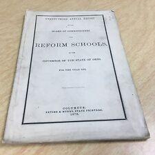 OHIO Reform Schools 1879 Original pamphlet
