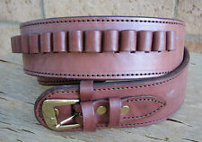 NEW! Deluxe Western Brown Genuine Leather 44/45 cal Cartridge Belt SASS Gun a