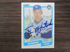 1990 Fleer Baseball #329 Tim McLntosh Autograph Signed Card C3 Milwaukee Brewers