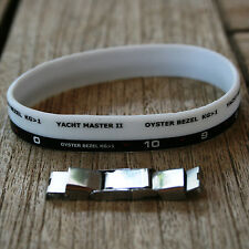 """""""WATCH BEZEL"""" SILICONE WRISTBAND WITH EXTRA CLASP,  YACHT DESIGN"""