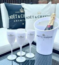Moet & Chandon White Ice Imperial Acrylic Champagne Glasses Flutes  - 1 Only