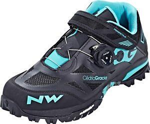 Northwave Enduro Mid MTB shoes Black/Aqua 43 (US 10 1/2)