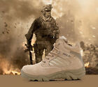 Men's Winter Military Desert Combat Outdoor Army Travel Leather Ankle Male Boots