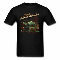 Men Twin Peaks T Shirt Black Tee 100% Cotton Tops Cartoon Clothing Tees