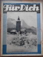 FÜR DICH 22 - 1934/35 Vobachs Unterhaltungsblatt Winterfreude Mode backen