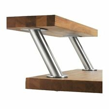 2 x Bar Konsole aus Edelstahl Höhe 17 cm Thekenfüße Küchenthek Theke  Neu & OVP