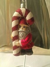 Slavic Treasures Ornament Hangin' On Glass Poland Elf Candy Cane