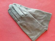 Vintage Brown Lamb Leather Women's Gloves - 100% Pure Silk Lined - Made In Italy