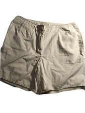 J Jill Womens Khaki Shorts Light Weight Cotton Size 8