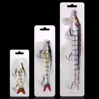 Fishing Lure 6/8/10 Section Multi Jointed Bass Muskie Pike Striper Bait Swimbait