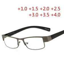 Business Square Metal Reading Glasses Reader Presbyopia Unisex  +100 to +400