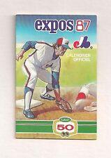 1987 Sked Montreal Expos Labatt 50 Pocket Schedule