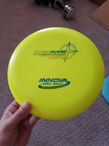 Innova Disc Golf Star Aviar beadless embossed 172g Neon Yellow Blue foil