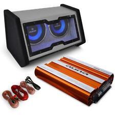 4000W Auto Hifi Musikanlage mit 2x 30cm Subwoofer 4-Kanal-Endstufe & Kabelset