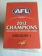 2012 Select AFL Champions Complete Common Base set of 216