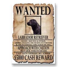 BLACK LABRADOR Wanted Poster FRIDGE MAGNET New DOG