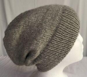 Unisex adult hand-knitted 100% AUSTRALIAN-ALPACA slouch-beanie sew-ezy-australia