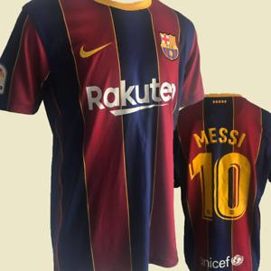 Lionel Messi #10 Barcelona FC 2020/2021 Home Soccer Jersey Football Men's Shirt