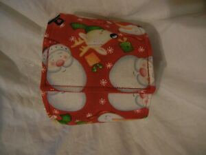 """Dog Puppy Belly Band Wrap Contoured Diaper Male Puppy Flannel lined 16.5"""" SANTA"""