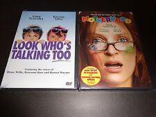 LOOK WHO'S TALKING TOO & MOTHERHOOD-2 movies-JOHN TRAVOLTA, UMA THURMAN,K ALLEY